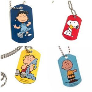 Peanuts Dog Tag Necklace